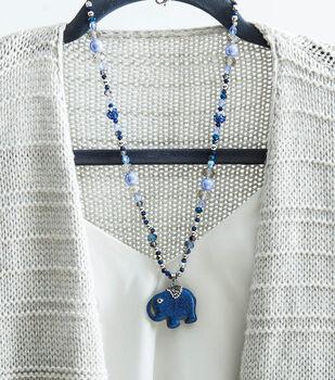 How To Make A Blue Mood Elephant Charm Necklace