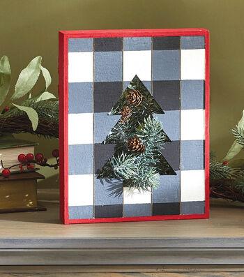 How To Make A Buffalo Check Holiday Shadow Box