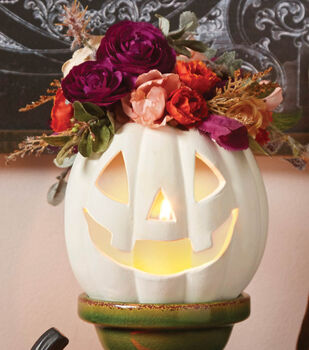 Make A floral Crown Pumpkin