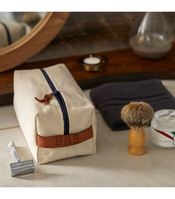 How To Make A Canvas Dopp Kit