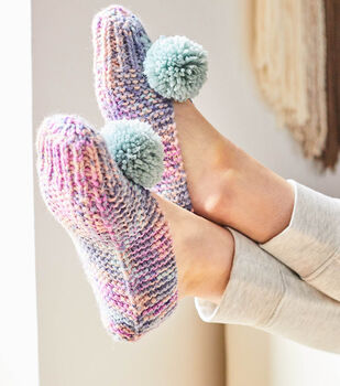How To Make A Wool-Ease Hand Dyed Sassy Slippers