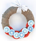 Idea Market Burlap Medallion Wreath