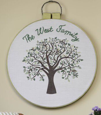 Square By Design Embroidery Hoop Wall Art