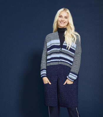 How To Make a Lion Brand Jeans Cottonwood Cardi