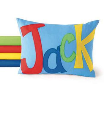 Applique Name Pillow