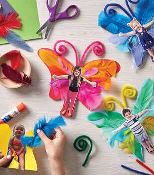 How To Make a Kids Feather Butterfly