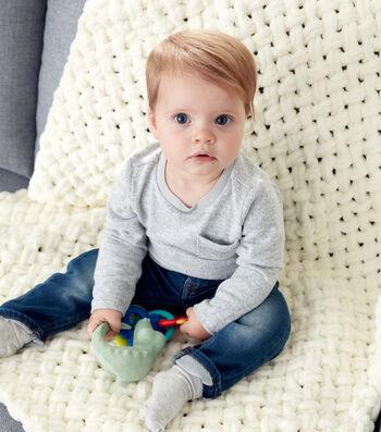 How To Make A Bernat Alize Blanket EZ Criss-Cross Baby Blanket