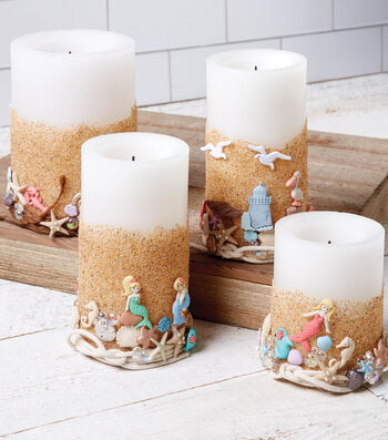 How To Make A Beach Candles With Buttons