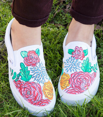 How To Make Flower Canvas Shoes