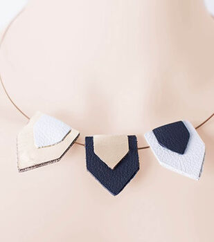 How To Make a Leather Pennant Necklace