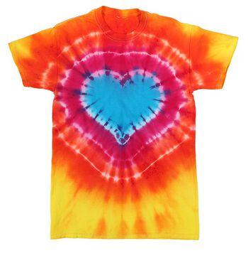 Tie Dye Heart Tie Dye Technique T-shirt