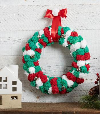 How To Make A Jingle Bell Pom Pom Yarn Wreath