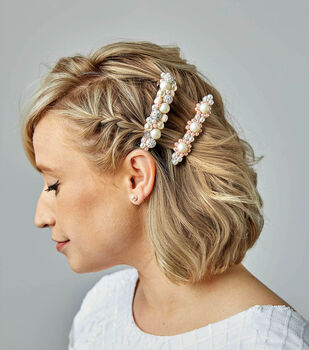 How To Make Pearl Barrettes and Pearl Hair Comb