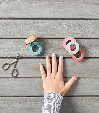 Create Washi Tape Nail Designs