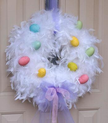 Craft A Fluffy Egg Wreath