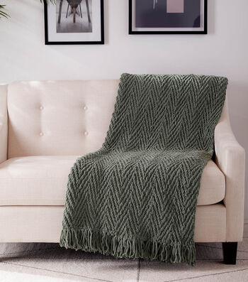 How To Make a Calico Collection Vertical Herringbone Crochet Blanket