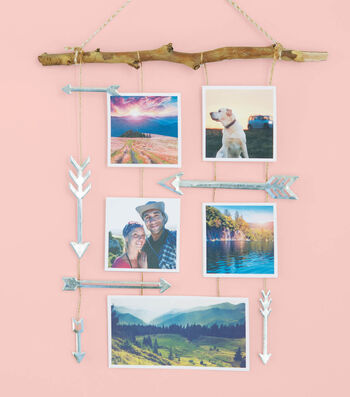 How To Make An Arrows Photo Wall Hanging