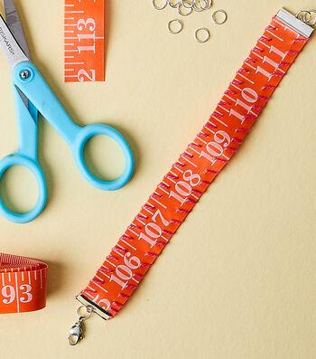 Make A Tape Measure Bracelet