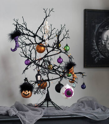 How To Make a Halloween Ornament Tree