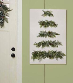 How To Make A Christmas Tree Canvas