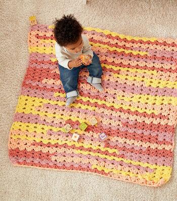 How To Make a Bernat Baby Bundle Mini Fans Crochet Baby Blanket