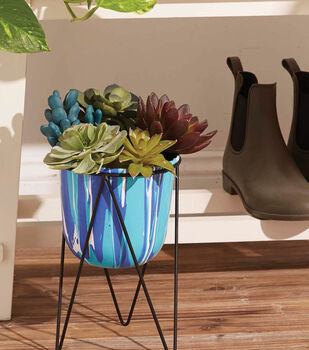 How To Make A Marble Poured Planter