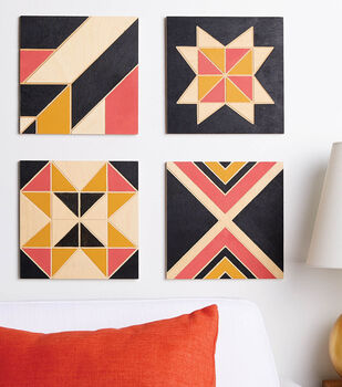 How To Make Quilted Wood Block