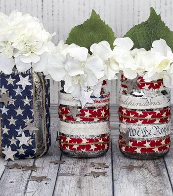 Make Americana Mason Jar Candle Holders