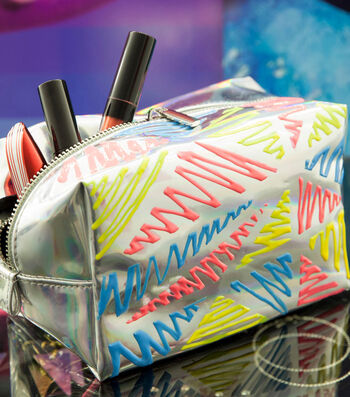 How To Make A Neon Triangles Makeup Bag