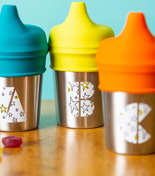 How To Make Monogram Sippy Cups