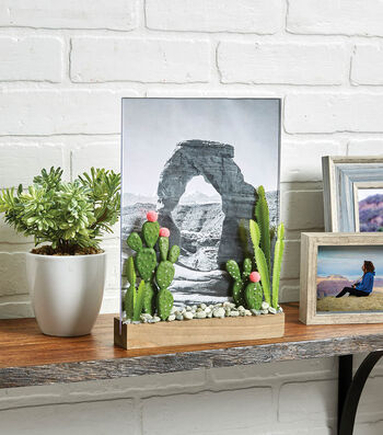 How To Make A Cactus Acrylic Panel