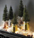 Metallic Mason Jar Mantel Display