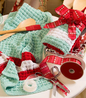 How To Make a Waffle Stitch Tea Towel