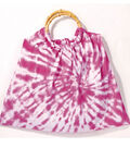 Tie Dye Purse with Bamboo Handles