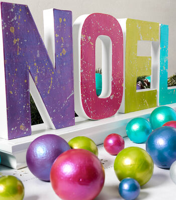 How To Make Color Shift Holiday NOEL and Orbs