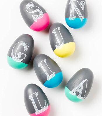 Spring Chalkboard Eggs