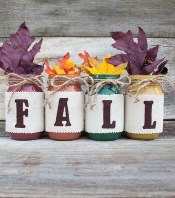 "How To Make ""FALL"" Painted Mason Jars"