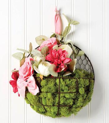 Make A Floral Wire Hanging Basket