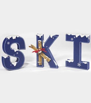 SKI Paper Mache Letters