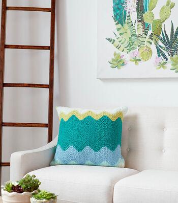 How To Make a Bernat Blanket Breezy Zig-Zag Breezy Knit Pillow