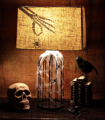 How To Make A Stenciled Skeleton Lampshade