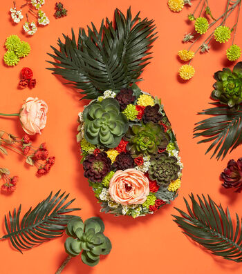 Make A Floral Pineapple Arrangement