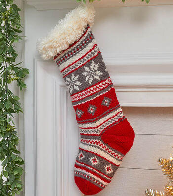 How To Make a Festive Fair Isle Stocking