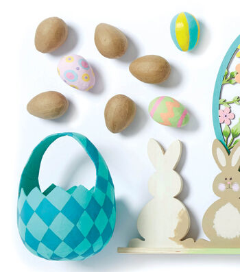 How To Make A Paper Mache Easter Basket and Eggs
