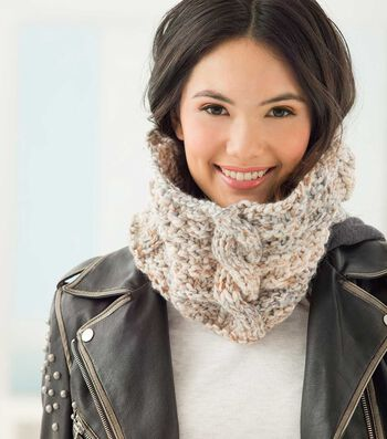 How To Make A Lion Brand Wool-Ease Thick & Quick Cabled Cowl
