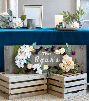 How To Make a Fall Floral and Greenery Sign