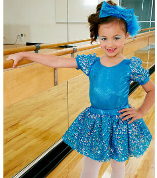 Turquoise Dance Costume and Headband