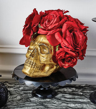 How To Gold Skull Roses Centerpiece