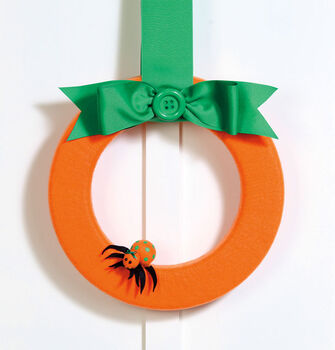Felt Wrapped Pumpkin Wreath