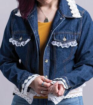 How To Make a Lace Embellished Denim Jacket